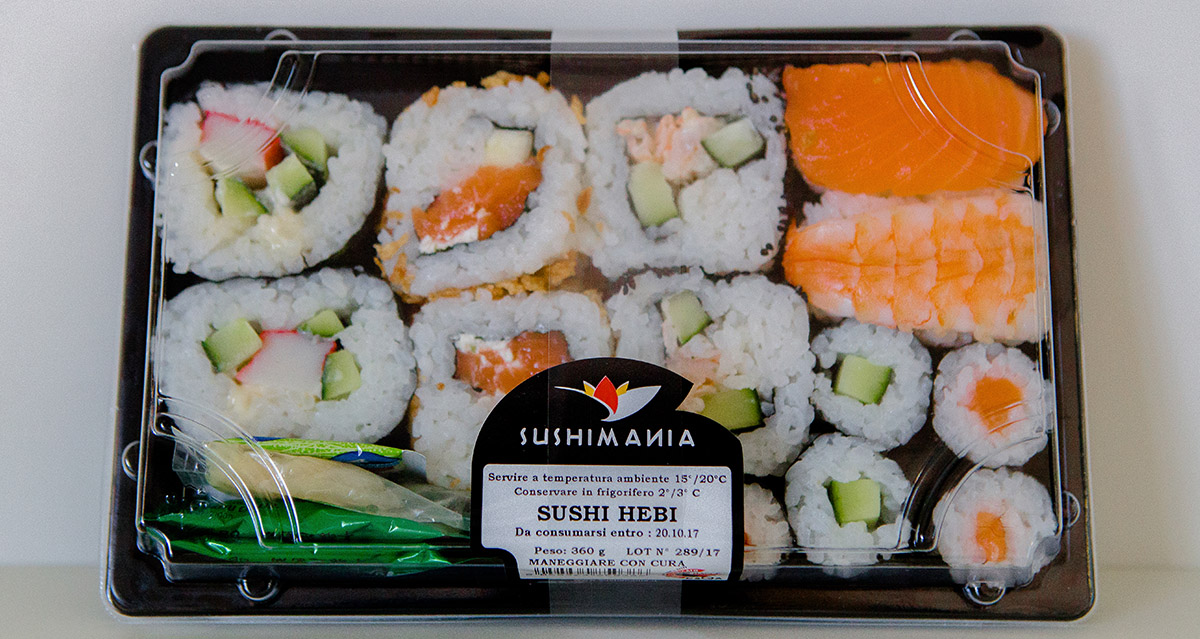 Vaschetta sushi ebi